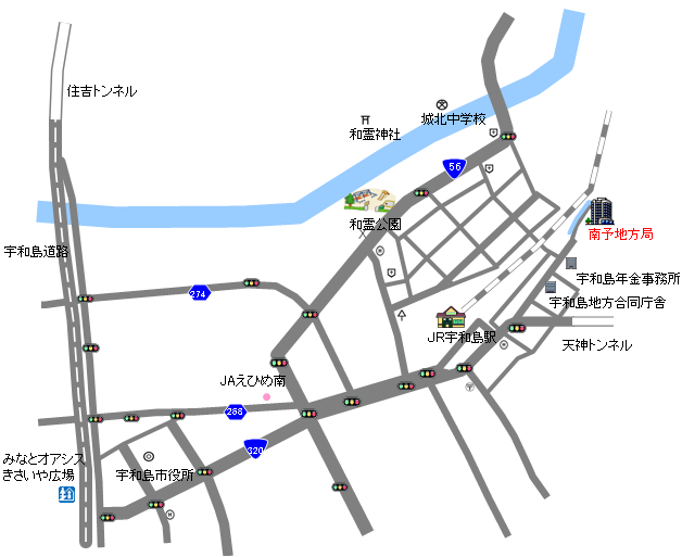 愛媛県庁/南予地方局アクセスマ...